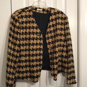 Doncaster 100% silk gold and black jacket size 18